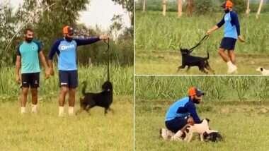 Mohammed Shami Sprints With His Pet Dog: গতি বাড়ানোর জন্য পোষা কুকুকের সঙ্গে দৌড়চ্ছেন মহম্মদ শামি