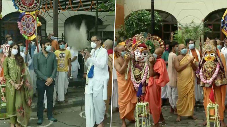 Ulta Rath Yatra 2020: কলকাতায় ইসকনের উল্টোরথে অংশ নিলেন অভিনেত্রী ও তৃণমূল সাংসদ নুসরত জাহান