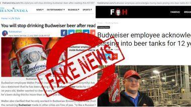 Budweiser: ১২ বছর ধরে বিয়ারের ট্যাঙ্কে মুত্রত্যাগ করছেন বিয়ার ব্র্যান্ড বুডউইজারের এক কর্মী? জানুন আসল সত্যি