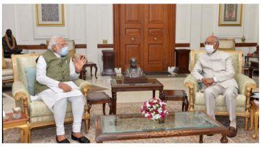 Modi called on President Ram Nath Kovind: রাষ্ট্রপতি রামনাথ কোবিন্দের সঙ্গে দেখা করলেন প্রধানমন্ত্রী নরেন্দ্র মোদি