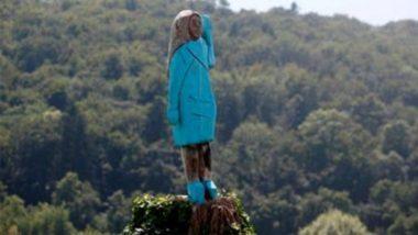 Melania Trump Wooden Sculpture: আমেরিকার স্বাধীনতা দিবসের দিনে অঘটন, স্লোভেনিয়ায় পুড়ল মেলানিয়া ট্রাম্পের কাঠের মূর্তি