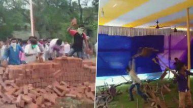 Visva Bharati University: শান্তিনিকেতনে পৌষ মেলার মাঠজুড়ে তাণ্ডবের ক্ষতচিহ্ন, নির্মাণ সংস্থার সামগ্রী লুঠের অভিযোগ
