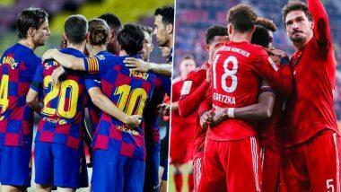 Barcelona vs Bayern Munich, UEFA Champions League Live Streaming Online: উয়েফা চ্যাম্পিয়ন্স লিগের কোয়ার্টার ফাইনালে বার্সেলোনা বনাম বায়ার্ন মিউনিখ, জানুন কোথায়, কখন দেখবেন ম্যাচ