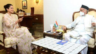 Kangana Ranaut Meets Maharashtra Governor: মহারাষ্ট্রের রাজ্যপাল ভগৎ সিং কোশিয়ারির সঙ্গে দেখা করলেন অভিনেত্রী কঙ্গনা রানাওত