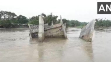 Bridge In Bihar Washed Away: নদীর জল বাড়ায় বিহারে উদ্বোধনের আগেই ভেঙে পড়ল সেতু(দেখুন ছবি)