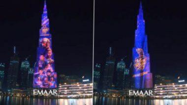 Burj Khalifa Lights Up For KKR: আবুধাবিতে আজ নাইটদের মুখোমুখি মুম্বই ইন্ডিয়ান্স, কেকেআর-এর আলোয় সাজল বুর্জ খলিফা