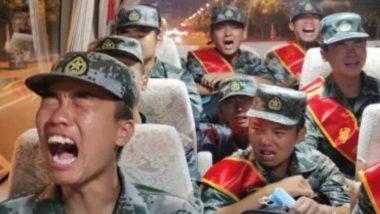 PLA Soldiers 'Crying': লাদাখ সীমান্তে যুদ্ধের দামামা, গোলাগুলির ভয়ে কাঁদছে চিনা সেনা (দেখুন ভিডিও)