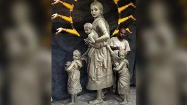 Durga Puja 2020: পরিযায়ী শ্রমিক মায়ের রূপে এবার দেবী দুর্গা, শিল্পী পল্লব ভৌমিকের ভাবনাকে কুর্নিশ জানাচ্ছেন নেটিজেনরা