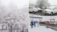 Snowfall in Kashmir: কাশ্মীর উপত্যকায় মরসুমের প্রথম তুষারপাত, ছবি দেখে বেজায় খুশি নেটিজেনরা