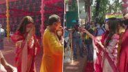 Durga Puja 2020: সুরুচি সংঘের পুজোয় হাজির তৃণমূল সাংসদ নুসরত জাহান, বাজালেন ঢাক