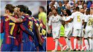 Barcelona vs Real Madrid Free Live Streaming Online, El Clasico: মরশুমের প্রথম এল ক্লাসিকোয় মুখোমুখি বার্সেলোনা ও রিয়াল মাদ্রিদে, কোথায়, কীভাবে দেখবেন ম্যাচ