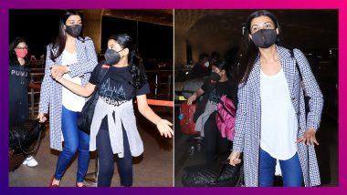 Sushmita Sen Clicked At Airport: দুই মেয়ে এবং রহমানের সঙ্গে বিদেশে ছুটি কাটিয়ে ফিরলেন সুস্মিতা সেন