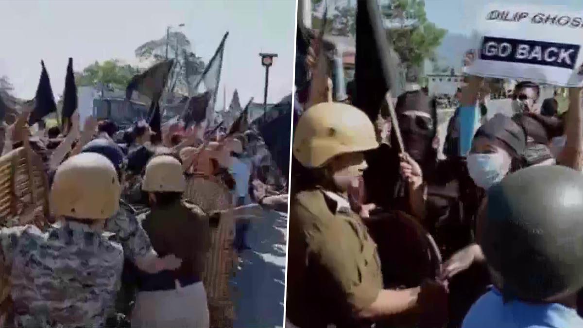 Dilip Ghosh's Convoy Attacked: কোচবিহারের জয়গাঁতে দিলীপ ঘোষের কনভয়ে হামলা, গাড়ি ভাঙচুর