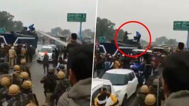 Farmers' Protest: লাফিয়ে জলকামান বন্ধ করা যুবকের বিরুদ্ধে খুনের চেষ্টার অভিযোগ আনল পুলিশ