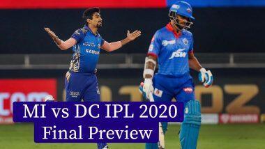 IPL 2020, MI vs DC Final: আইপিএল ফাইনালে আজ মুম্বই ইন্ডিয়ান্স বনাম দিল্লি ক্যাপিটালস, দেখে নিন সম্ভাব্য একাদশ, পিচ রিপোর্ট ও পরিসংখ্যান