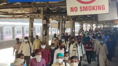 Local Train Service In West Bengal: রাজ্যে গড়ালো লোকাল ট্রেনের চাকা, সাতসকালেই শিয়ালদায় কোভিড বিধি শিকেয়