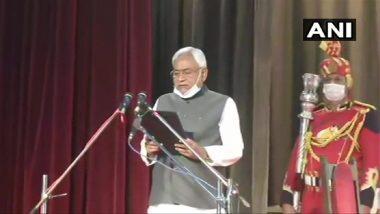 Nitish Kumar Takes Oath: বিহারের সপ্তম মুখ্যমন্ত্রী হিসেবে শপথ নিলেন জেডিইউ দলের নেতা নীতীশ কুমার