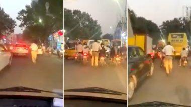 Traffic Constable Runs 2 km to Clear Traffic Jam: অ্যাম্বুলেন্সকে রাস্তা ফাঁকা করে দিতে ২ কিলোমিটার দৌঁড়লেন কনস্টেবল