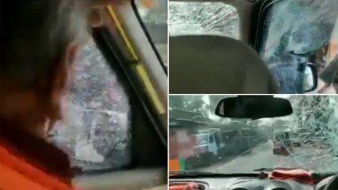 Protestors Pelt Stones at Vehicle Of Kailash Vijayvargiya: জেপি নাড্ডার কনভয়ে হামলা, কাচ ভাঙল কৈলাস বিজয়বর্গীয়র গাড়ির; দেখুন ভিডিয়ো
