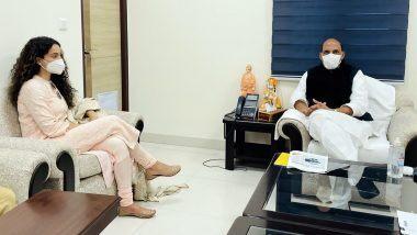 Kangana Ranaut Meets Rajnath Singh: রাজনীতি নয়, পরবর্তী ছবি 'তেজস'-র জন্য আশীর্বাদ নিতে রাজনাথ সিংয়ের সঙ্গে দেখা করলেন অভিনেত্রী কঙ্গনা রানাওয়াত