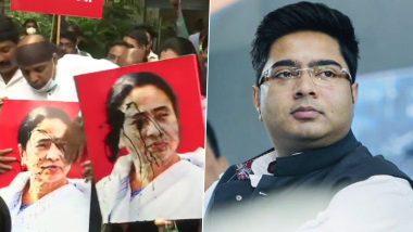 BJP Protesters: নাড্ডার সফরে ধুন্ধুমারের প্রতিবাদে মুম্বইয়ে মমতা ব্যানার্জির ছবিতে কালি, পোড়ানো হল কুশপুতুল; দিল্লিতে অভিষেকের বাসভবনে কালি
