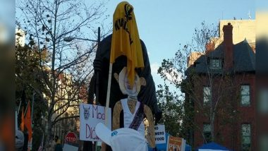 Mahatma Gandhi's Statue In Washington DC Defaced: অ্যামেরিকায় মহাত্মা গান্ধির মূর্তি ঢেকে দেওয়া হল খলিস্তানি পতাকায়