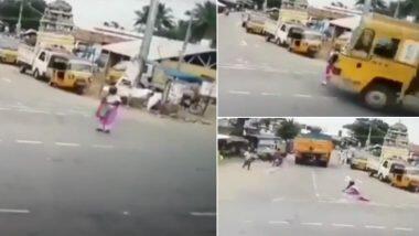 Tamil Nadu: রাখে হরি মারে কে! চলন্ত ট্রাকের তলায় পড়ে গিয়েও প্রাণে বাঁচলেন মহিলা; দেখুন ভিডিয়ো