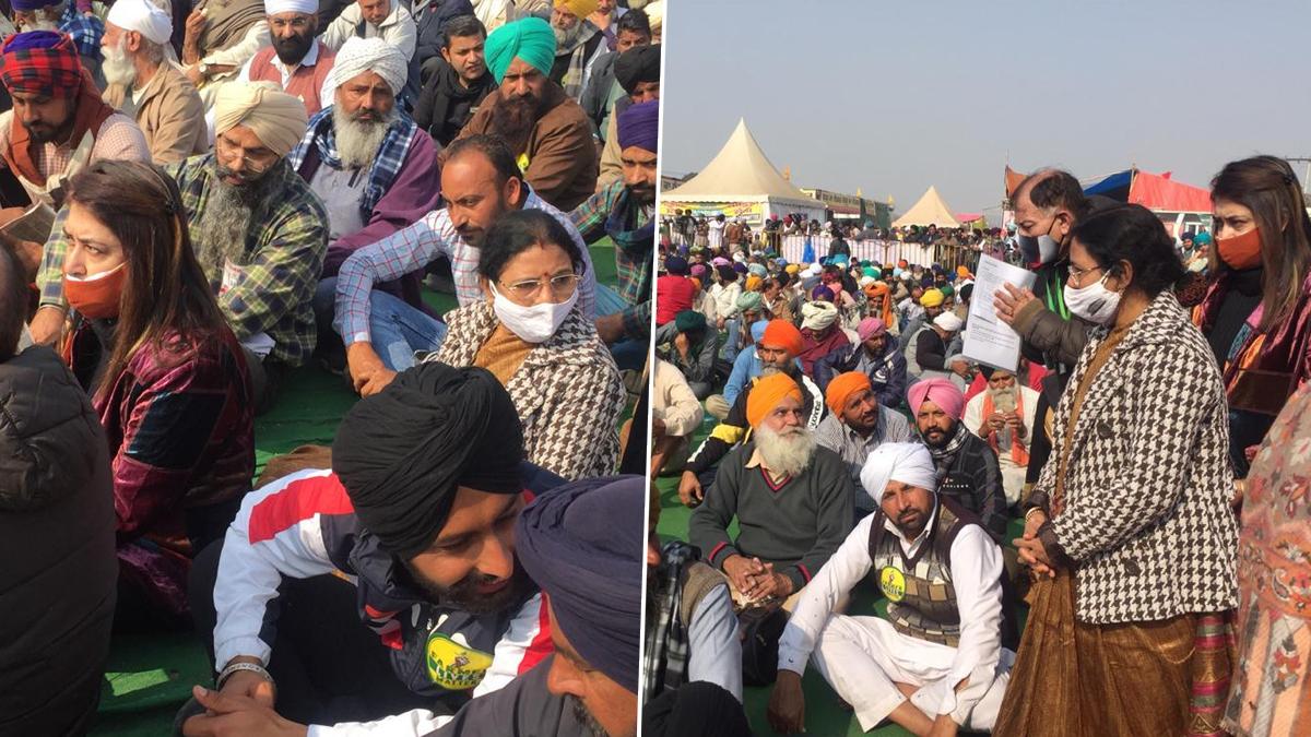 Farmer's Protest: সিংঘু সীমান্তে বিক্ষোভকারী কৃষকদের সঙ্গে দেখা তৃণমূল সাংসদদের, কৃষকদের সঙ্গে ফোনে কথা মমতা বন্দ্যোপাধ্যায়ের