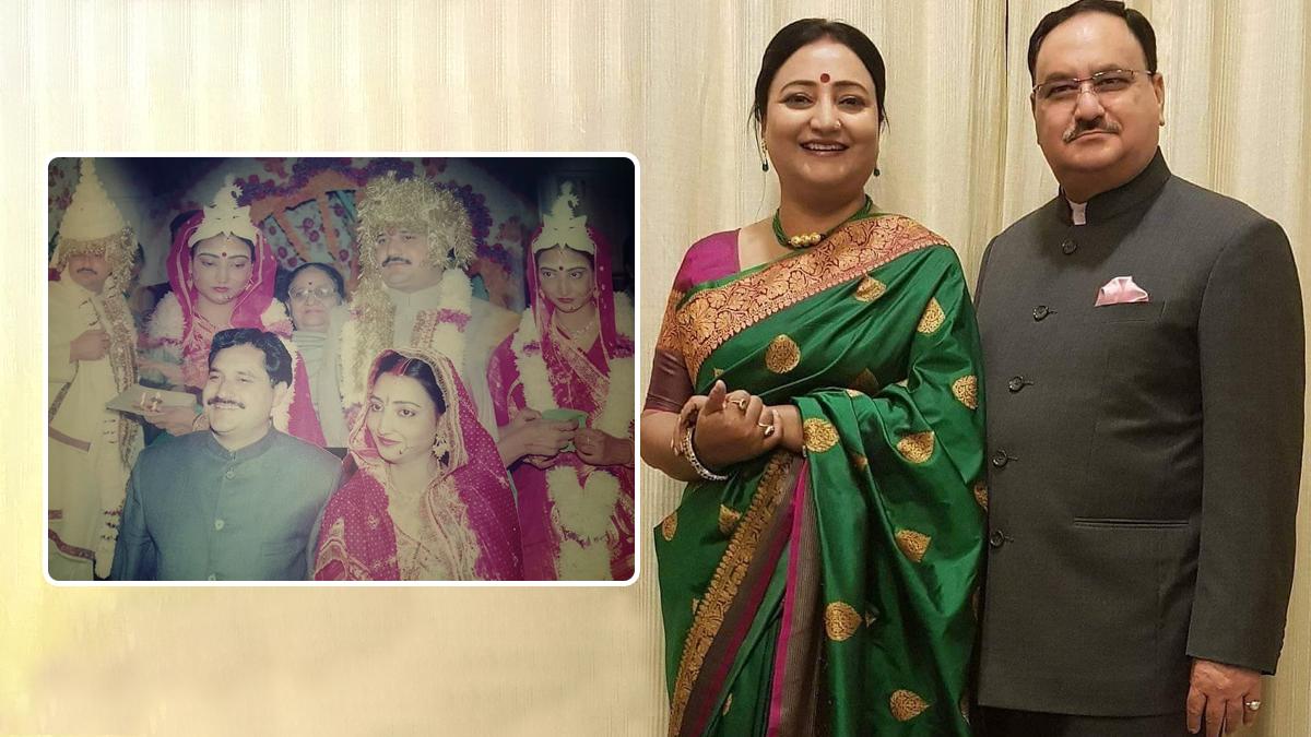 JP Nadda: ধুতি, টোপর পরে জেপি নাড্ডা! বিবাহবার্ষিকীতে এই ছবিই শেয়ার করলেন বাঙালি সহধর্মিনী মল্লিকা ব্যানার্জি নাড্ডা