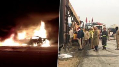 Agra Road Accident: কন্টেনার ট্রাকের সঙ্গে যাত্রীবাহী গাড়ির মুখোমুখি সংঘর্ষ, জীবন্ত অগ্নিদগ্ধ হয়ে মৃত্যু ৫ জনের