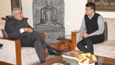 Sourav Ganguly Meets WB Governor:  ইডেন গার্ডেন পরিদর্শনের জন্য রাজ্যপালকে আমন্ত্রণ বিসিসিআই প্রেসিডেন্ট সৌরভ গঙ্গোপাধ্যায়ের