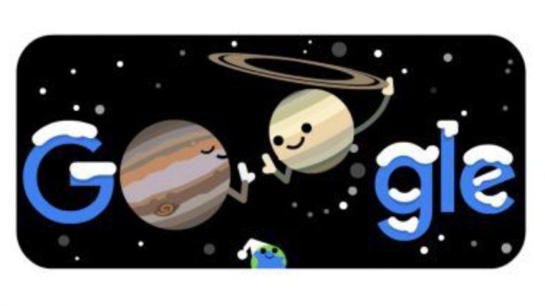 Google Doodle: গুগলের ডুডলে দেখুন শীতের মরশুম সঙ্গে শনি ও বৃহস্পতি কাছাকাছির আসার মহাজাগতিক ঘটনা
