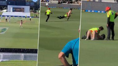 Streaker Invades Ground During New Zealand vs Pakistan Test: নিউজিল্যান্ড বনাম পাকিস্তান টেস্ট ম্যাচে মাঠে নগ্ন হয়ে দর্শকের দৌড়! (ভিডিও)