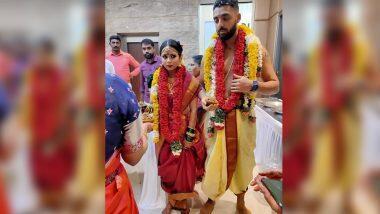 Cricketer Varun Chakravarthy Gets Married: চেন্নাইয়ে ঘরোয়া অনুষ্ঠানে বিয়ে সারলেন কেকেআর স্পিনার বরুণ চক্রবর্তী, দেখুন ছবি