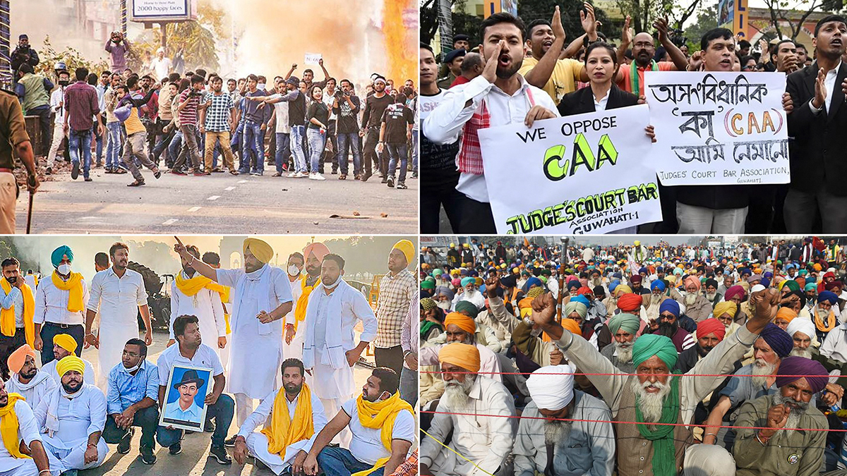 CAA To Farmers Protest, 5 Big Moments In 2020: সিএএ থেকে কৃষি বিল, আন্দোলন-বিক্ষোভের ২০২০