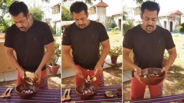 Salman Khan Turns Chef: শ্যুটিং ছেড়ে পেঁয়াজ আচারের রেসিপি তৈরিতে মন দিলেন ভাইজান সলমন খান (দেখুন ভিডিও)