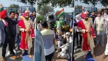 'Chakka Jam' on Haryana: 'চাক্কা জ্যাম'-এ আটকে পড়া বর ও বরযাত্রীকে রাস্তা ছেড়ে দিলেন আন্দোলনরত কৃষকরা