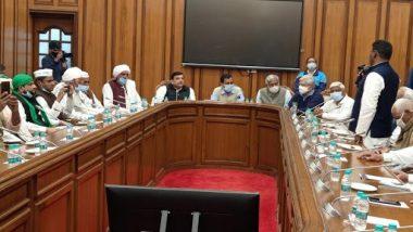 Arvind Kejriwal Discusses with Farmer Leaders: কৃষি আইন প্রত্যাহারে আগামী ২৮ ফেব্রুয়ারি মিরাটে মহা কিষান পঞ্চায়েত সভার ডাক অরবিন্দ কেজরিওয়ালের