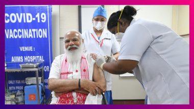 PM Narendra Modi Gets His Covid-19 Vaccine: এইমস-এ কোভ্যাক্সিনের প্রথম ডোজ নিলেন নরেন্দ্র মোদি