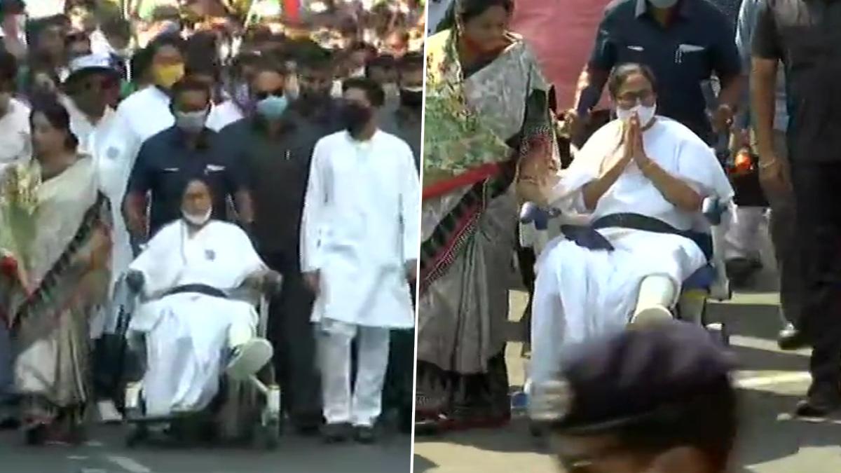 Mamata Banerjee Rally on Wheelchair Live: হুইলচেয়ারে মেয়ো রোডের সভায় প্রচারে নামলেন মুখ্যমন্ত্রী মমতা ব্যানার্জি