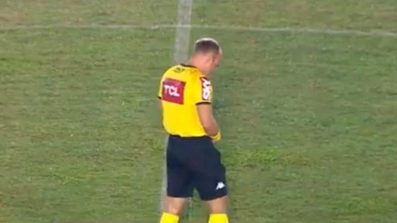 Referee Urinates on Field: ব্রাজিলের ফুটবল ম্যাচে এ কী কাণ্ড ঘটালেন! খোলা মাঠে রেফারির প্রস্রাব করার ভিডিও ধরা পড়ল ক্যামেরায়