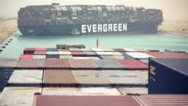 'Ever Given' Stuck in Suez Canal: মিশরের সুয়েজ ক্যানালে আটকে দৈত্যাকার কার্গো জাহাজ এভার গিভন, চলছে ড্রেজিং