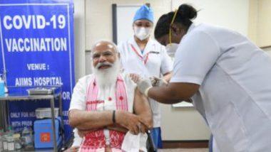 PM Modi Takes COVID-19 Vaccine: ভারতকে করোনা মু্ক্ত করুন, এইমস-এ কোভ্যাক্সিনের প্রথম ডোজ নিয়ে প্রধানমন্ত্রীর টুইট