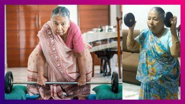 Fitness Has No Age! শাড়ি পরেই ২০ কেজি ওয়েট তোলেন ৮৩ বছরের কিরণ বাঈ