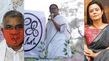 WB Assembly Elections 2021: মমতাকে শাড়ি ছেড়ে বারমুডা পরার পরামর্শ, বেলাগাম দিলীপকে 'বাঁদর' বললেন মহুয়া