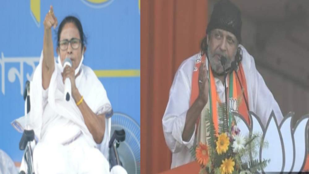 WB Assembly Elections 2021: নন্দীগ্রামে শেষবেলার প্রচারে মমতার বিরুদ্ধে মিঠুন, তৎপরতা তুঙ্গে