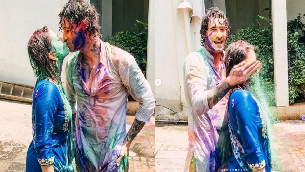 Sunny Leone : ড্যানিয়েলকে গাঢ় চুম্বন, রংয়ের উৎসবে আবেগে ভাসলেন সানি