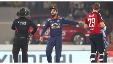 IND vs ENG 5th T20I: পঞ্চম টি-২০ চলাকালীন উত্তপ্ত বাক্য বিনিময়ে জস বাটলার ও বিরাট কোহলি, দেখুন ভিডিও