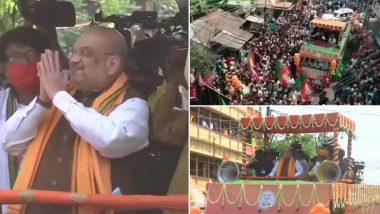 WB Election 2021: নদিয়ার শান্তিপুরে রোড শো করছেন অমিত শাহ