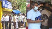 Delhi Lockdown: দিল্লিতে জারি ৭ দিনের লকডাউন, তার আগে মদের দোকানের বাইরে লম্বা লাইন
